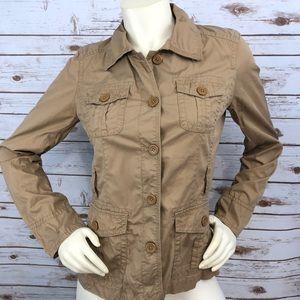 J. Crew Chino Khaki Utlity Jacket Sz S :: XX9